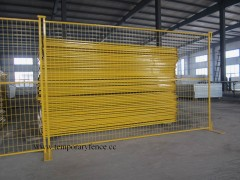 6'Feet*9.5'Feet Temporary fence (yellow)