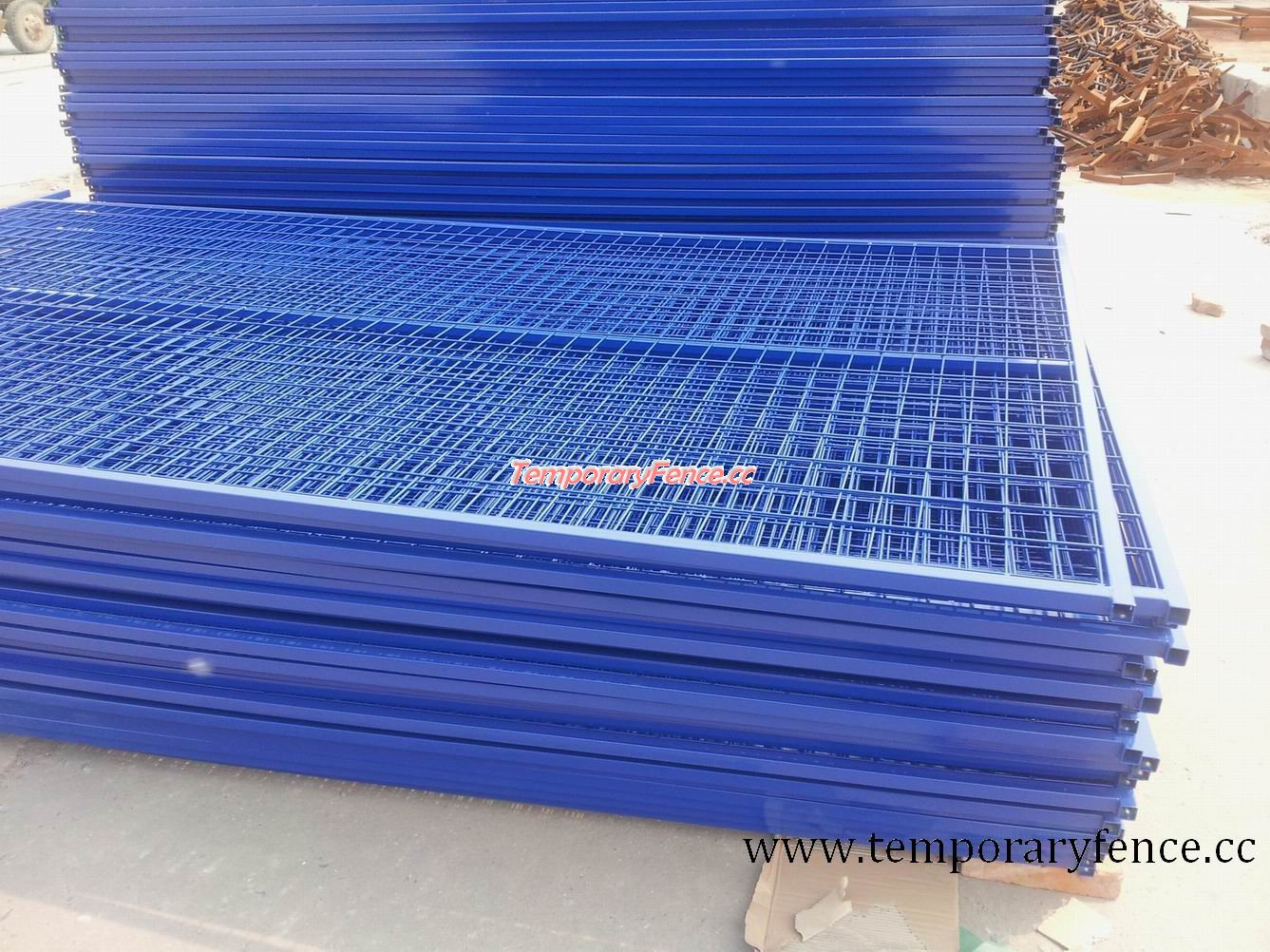 chaoxin temporary fence pvc blue color